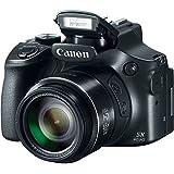 Canon Powershot SX60 16.1MP Digital Camera 65x Optical Zoom Lens 3-inch LCD Tilt Screen (Black) (Certified Refurbished)