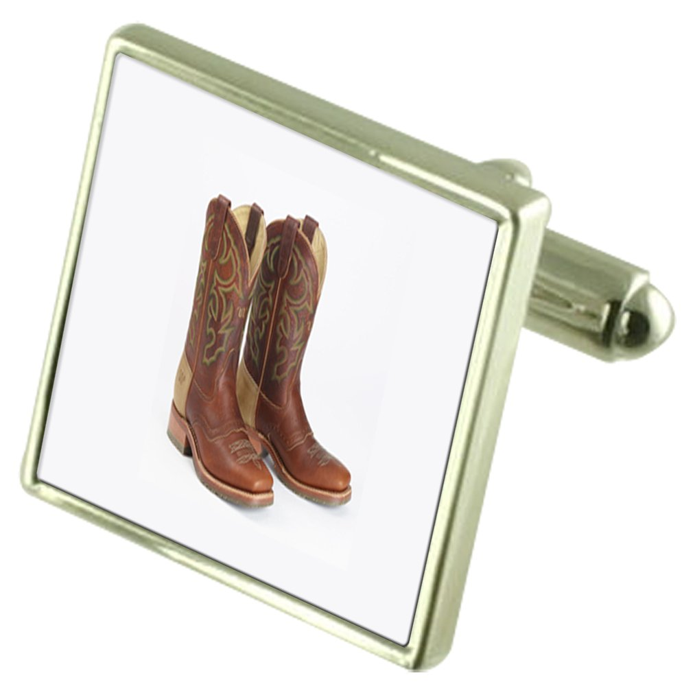 Cowboy Boots Engraved Keepsake Message Box