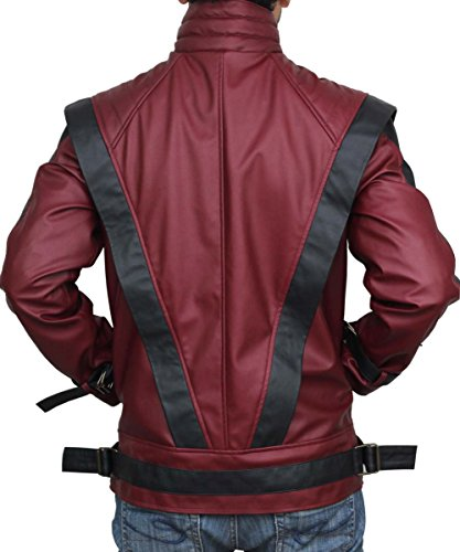 Red Leather Thriller Jacket For Men - Birthday Gift Ideas (L) by BlingSoul (Image #1)