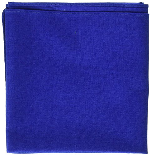(Carolina Hav, A, Hank Solid Bandanna, 22-Inch by 22-Inch, Royal Blue)
