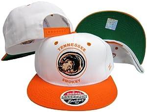 Zephyr Tennessee Volunteers White/Orange Plastic Snapback Adjustable Plastic Snap Back Hat/Cap
