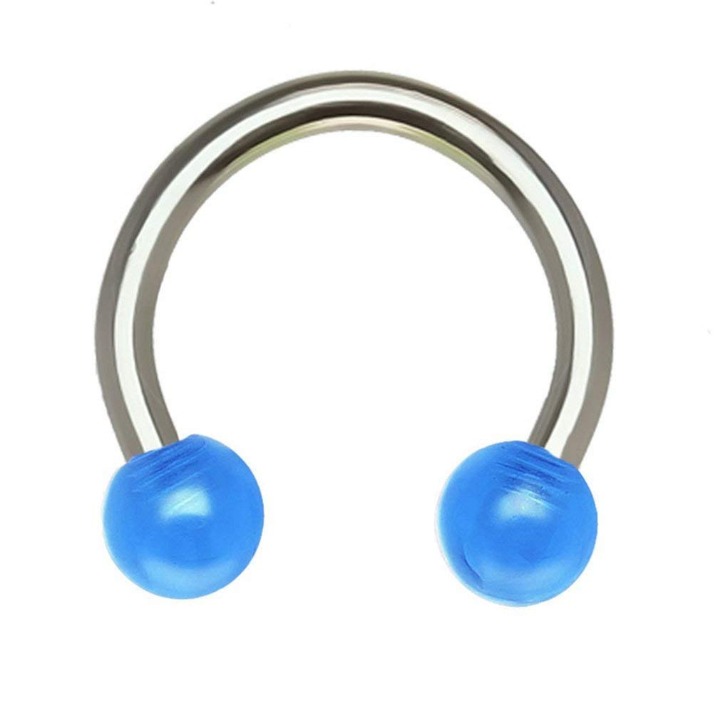 Covet Jewelry 316L Surgical Steel Horseshoe with UV Acrylic Balls