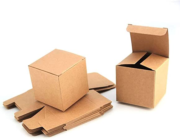 RUBY-50 Caja kraft de boda regalo Rústico Cajas Papel Kraft, para ...