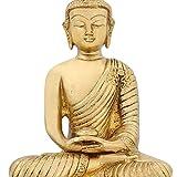 Buddhist Art Brass Statue Meditation Buddha For Peace And Calm Home Décor 6 inch