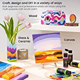 Arteza Craft Acrylic Paint, Set of 20 Colors, 60 ml