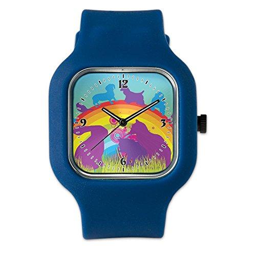 navy-blue-fashion-sport-watch-animal-dog-cat-bird-lover-rainbow