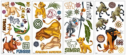 Price comparison product image RoomMates RMK1921SCS The Lion King Peel and Stick Wall Decals