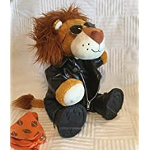 Lion (Build-a-Bear) in Harley Davidson Clothes, sunglasses & scarf.