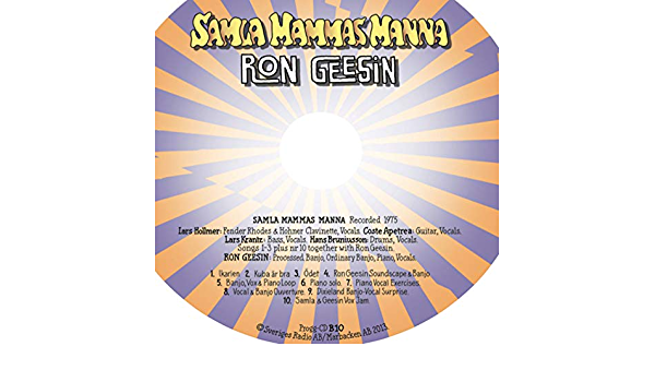Ron Gessin banjo vox and piano loop (Tonkraft 1975) de Samla ...