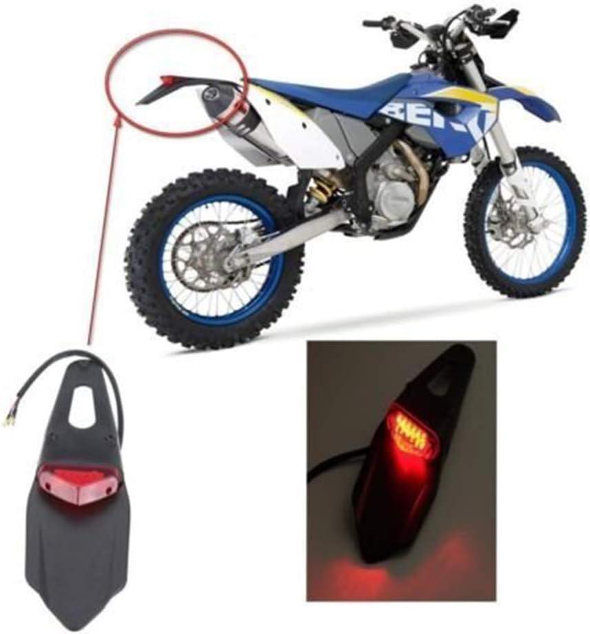 Kotfl/ügel hinten Kotfl/ügelleuchte rotes LED Motorrad R/ücklicht f/ür Dirt Bike Motocross XR CRF KLX Enduro EXC Mountainbike-St/ände