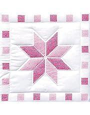 Jack Dempsey XX Star Stamped White Quilt Blocks, 46cm x 46cm