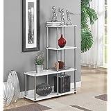Convenience Concepts 151077W Designs2Go Multi L Bookshelf, White