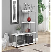 Convenience Concepts 151077W Designs2Go Multi L Bookshelf, White