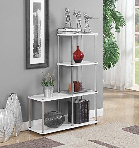 - Convenience Concepts 151077W Designs2Go Multi L Bookshelf, White