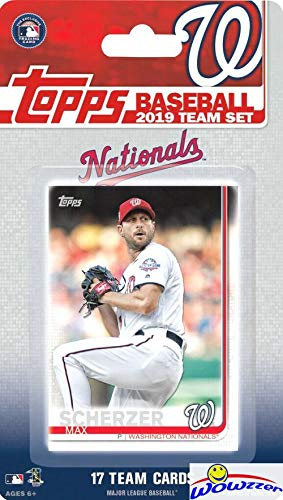 Washington Nationals 2019 Topps Baseball EXCLUSIVE Special Limited Edition 17 Card Complete Team Set with Juan Soto, Max Scherzer & Many More Stars & Rookies! Shipped in Bubble Mailer! WOWZZER!