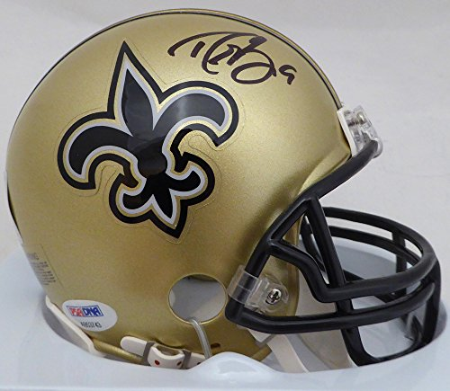 Drew Brees Autographed New Orleans Saints Mini Helmet PSA/DNA