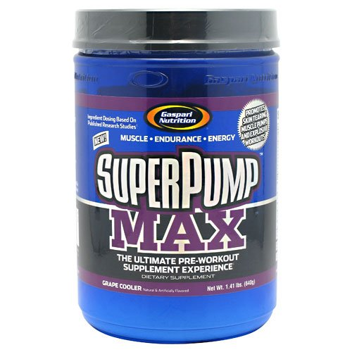 Super Pump Max, Grape, 800 Grams, From Gaspari