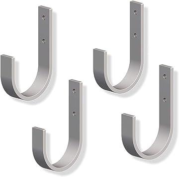 gedotec pared gancho colgado de cargas pesadas curvada para tornillos para garaje & Escalera | Ganchos de metal 70 x 110 mm | Estable dispositivo Soporte para tornillos, 4 unidades): Amazon.es: Bricolaje y herramientas