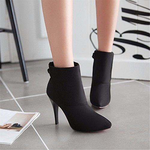 black de mujer Zapatos ante la nvxnRpw