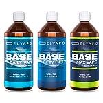 Elvapo-BASE-Fifty-Fifty-1000ml-1L-5050-PGVG-Basisliquid-fr-das-Mischen-von-E-Liquids-mit-Aromen-fr-E-Zigaretten-und-E-Shishas-0mg-ohne-Nikotin-Liquid-Basen-Made-in-Germany