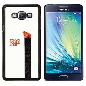 Tokyo Police Club- Metal de aluminio y de plástico duro Caja del teléfono - Negro - Samsung Galaxy A7 / SM-A700