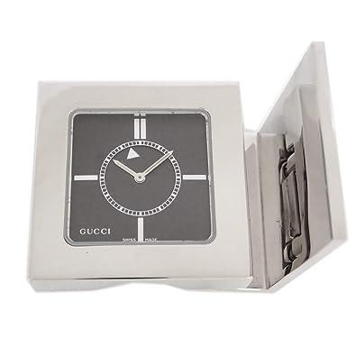 new product e1b7a 0767b Amazon.co.jp: グッチ 時計 置時計 コンパクト 黒文字盤 動作ok ...