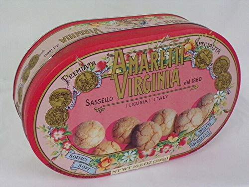 Virginia Italian - 2000 Amaretti Virginia ORIGINAL Vintage Italian Cookie Container Pink