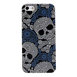 Skull Pattern Painted Plastic Hard Case Cover for iPhone 5/5S