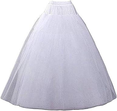 Nanwuji A-line Hoopless Petticoat Crinoline Underskirt Slips Floor Length for...