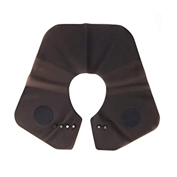 Weite Professional Soft Silicone Cutting Collar Waterproof Neck Shield with  Magnetic Card Buckle,