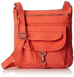 Dolce Girl Multi Pocket Cross Body Bag, Coral, One Size