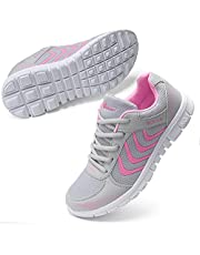Fashion Brand Best Show Women's Athletic Mesh Breathable Sneakers Running Sports Shoes (5B(M) US, Pink)
