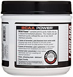 LABRADA NUTRITION – BCAA Power Powder, Fermented Amino Acids with Glutamine & Electrolytes, Muscle Building Post Workout Supplement, Orange Mango, 30sv