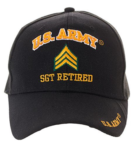 Artisan Owl Officially Licensed US Army Retired Baseball Cap - Multiple Ranks Available! (Sergeant)