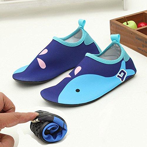 E Support�?Kids Wasserschuhe Strandschuhe Aquaschuhe Breathable Schlüpfen Schnell Trocknend Schwimmschuhe Surfschuhe Blau