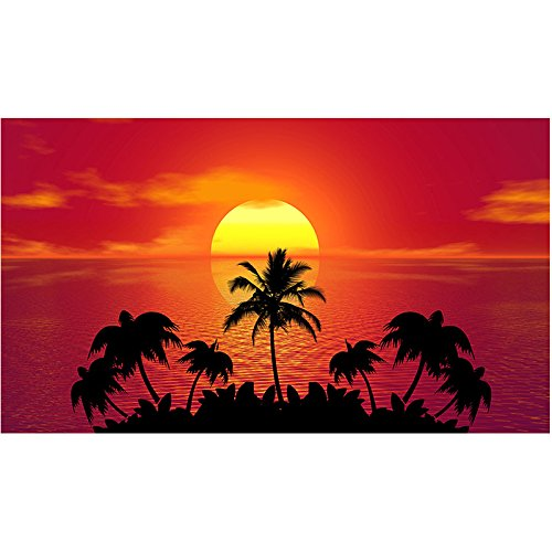 5D Diy Diamond Painting Tropical Sunset Palm Trees?Embroidery Full Round Diamond Embroidery Cross Stitch Full Square Fashion Home - Tropical Tree Diamond Palm