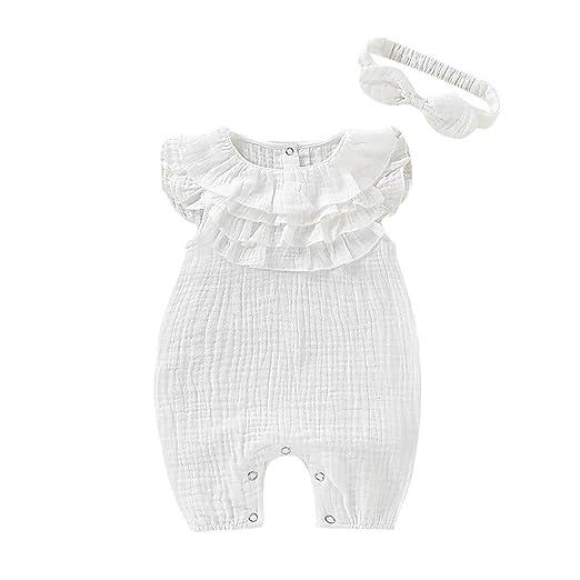 Sunbona - Mono sin mangas para bebé recién nacido, sin mangas, con ...