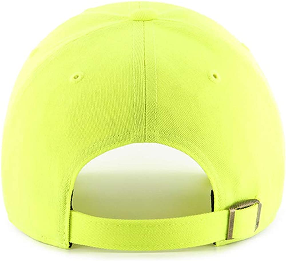 Adult Unisex MLB Baseball Cap Neon Yellow//White 47 New York Yankees Clean Up Adjustable Hat