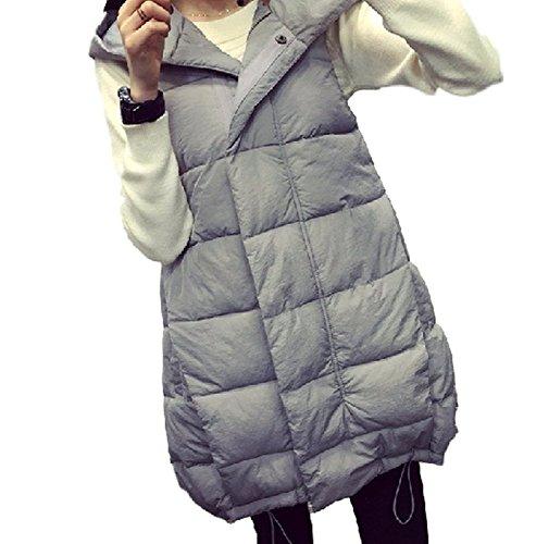 時計移行収縮[Nana_Collection(ナナコレクション)] 冬 フード 付き 長め丈 Aライン 女性 中綿 ダウン ロング ベスト