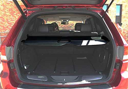 Danti Retractable Rear Trunk Organizer Cargo Luggage Security Shade Cover Shield for Jeep Grand Cherokee 2011 2012 2013 2014 2015 2016 2017 2018 2019