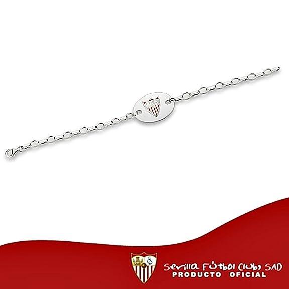 Pulsera escudo Sevilla FC plata de ley chapa oval  8562GR  - Modelo   40-062  Amazon.es  Joyería dec83c5f0e230