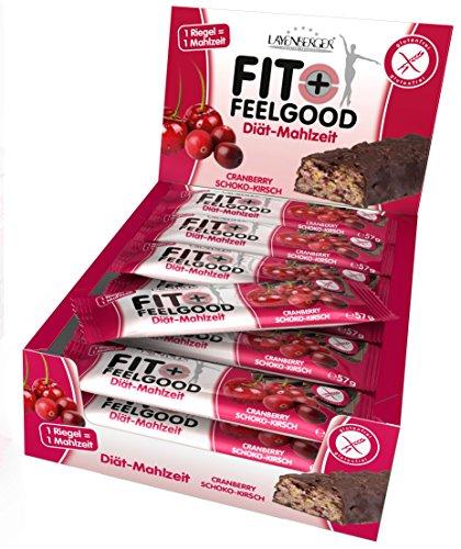 Layenberger Fit+Feelgood Mahlzeitenersatz-Riegel Cranberry-Kirsch, 15er Pack (15 x 57 g)