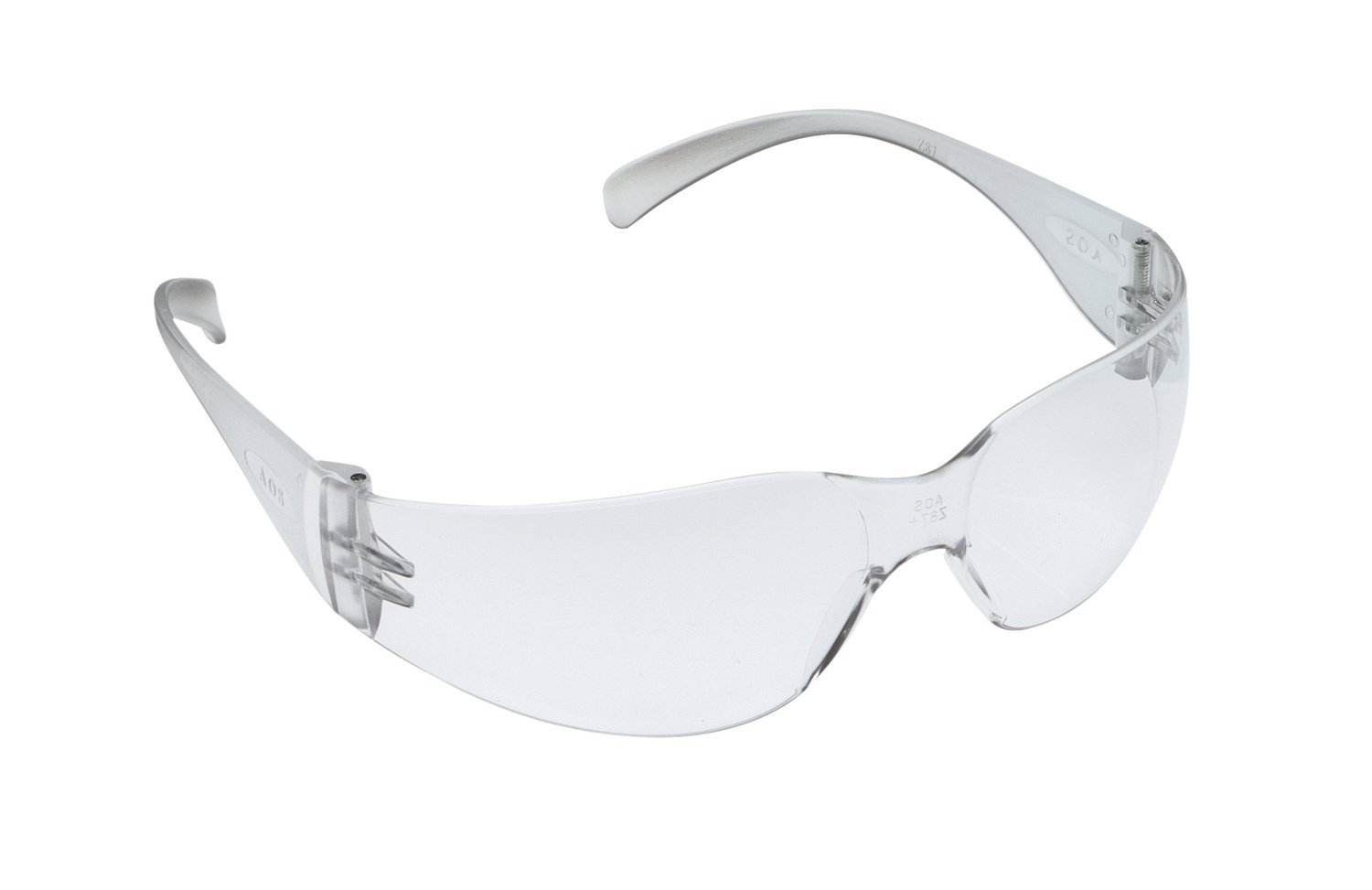 3M Virtua 11329-00000-100 Clear Polycarbonate Standard Safety Glasses - 99.9 % UV Protection - Wrap Around Frame - 70071539475 [PRICE is per PAIR]
