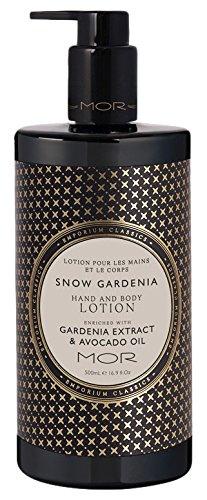 Mor Emporium Hand & Body Lotion, Snow Gardenia, 16.9 Fluid Ounce