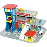 Bigjigs Toys JT106 Heritage Playset City Auto Center