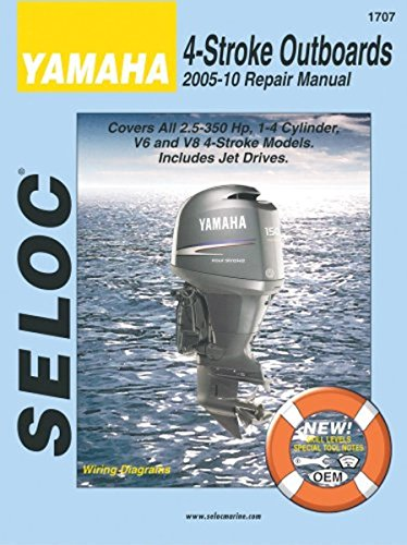 - Yamaha 4-Stroke Outboards 2005-10 Repair Manual: 2.5-350 Hp, 1-4 Cylinder, V6 & V8 Models