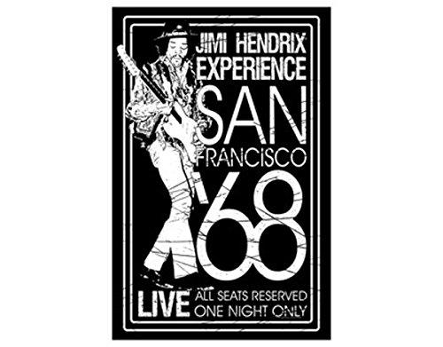(NNG Jimi Hendrix San Francisco '68 Textile Poster Flag)