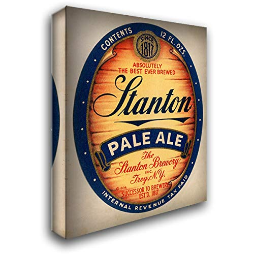 Stanton Pale Ale Beer 28x36 Gallery Wrapped Stretched Canvas Art by Vintage Booze Labels