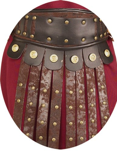 Gladiator Costumes Accessories (Rubie's Costume Men's Roman Apron and Belt Accessory, Multicolor, One Size)
