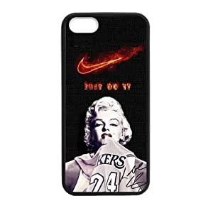 Custom Los Angeles Lakers Kobe Bryant Case for Iphone 5 or 5S pc hard (Laser Technology) Marilyn Monroe JUST DO IT Phonecase